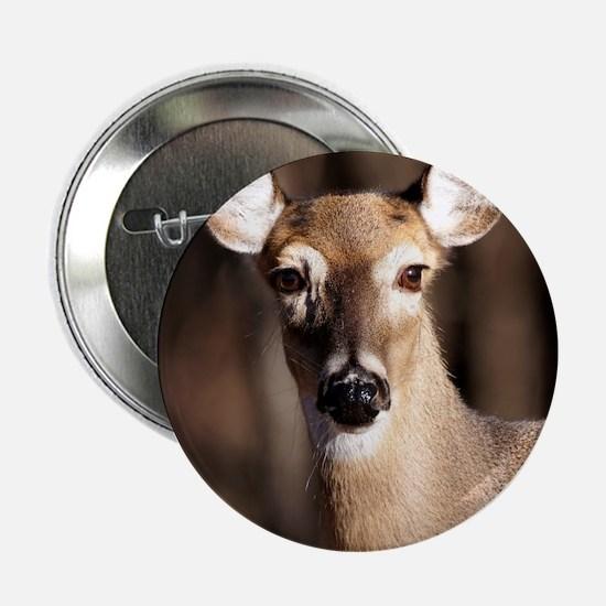 "Whitetail Deer Doe 2.25"" Button"