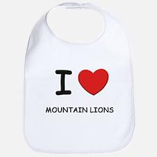 I love mountain lions Bib