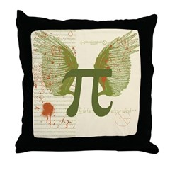 Winged Pi Throw Pillow