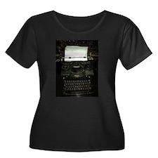VIntage Typewriter Plus Size T-Shirt