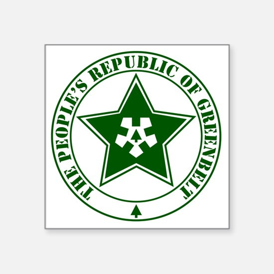 "2-G-Republic-logo Square Sticker 3"" x 3"""