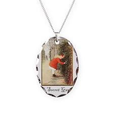 Secret-Garden Necklace Oval Charm