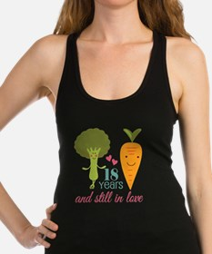 18 Year Anniverary Veggie Couple Racerback Tank To