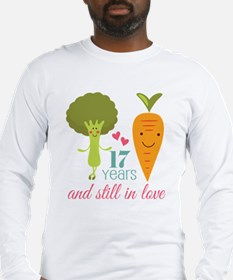 17 Year Anniverary Veggie Couple Long Sleeve T-Shi
