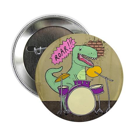 """T Rex Drums 2.25"""" Button"""