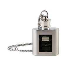Vintage writing machine Flask Necklace