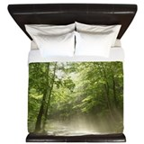 Spring forest mist King Duvet Covers