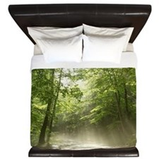 Spring Forest Mist King Duvet Cover