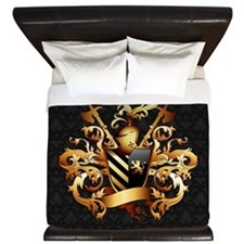 Medieval Coat of Arms King Duvet Cover