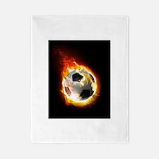 Soccer Fire Ball Twin Duvet Cover