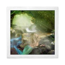Mermaid Cave Queen Duvet Cover