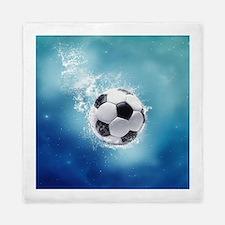 Soccer Water Splash Queen Duvet Cover