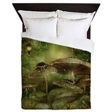 Enchanted Mushrooms Queen Duvet Cover