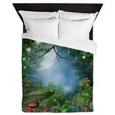 Enchanted Summer Night Queen Duvet Cover