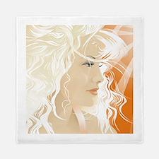 Blonde Beauty Queen Duvet Cover