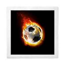 Soccer Fire Ball Queen Duvet Cover