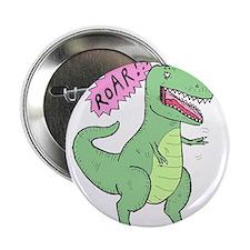 """T Rex and Bird 2.25"""" Button"""