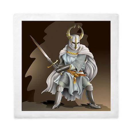 Crusader Knight Queen Duvet Cover