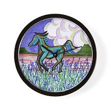 wild horse2 Wall Clock