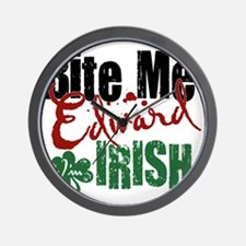 Bite Me Irish Wall Clock