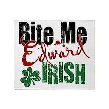 Bite Me Irish Throw Blanket