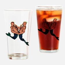 MerMen01dk Drinking Glass