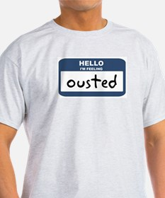 Feeling ousted Ash Grey T-Shirt