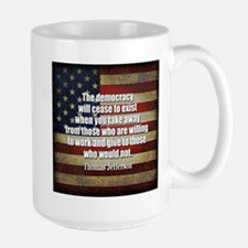 Jefferson Quote Democracy Mugs