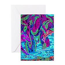 abstract bear3 Greeting Card