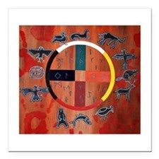 "medicine wheel Square Car Magnet 3"" x 3"""