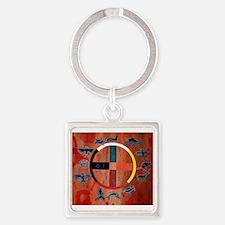 medicine wheel Square Keychain