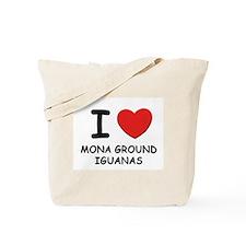 I love mona ground iguanas Tote Bag