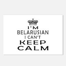 I Am Belarusian I Can Not Keep Calm Postcards (Pac