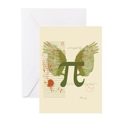 Winged Pi Greeting Cards (Pk of 10)