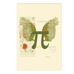 Winged Pi Postcards (Package of 8)