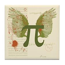 Winged Pi Tile Coaster