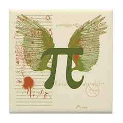 Winged Pi Tile Coaster