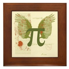 Winged Pi Framed Tile