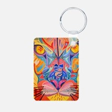 abstract cougar Keychains
