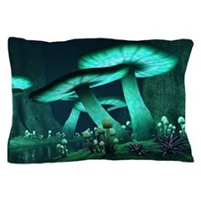 Luminous Mushrooms Pillow Case