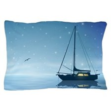 Sailboat at Night Pillow Case