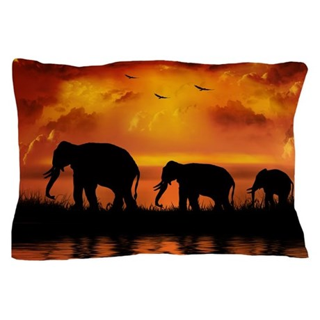 Elephant Safari Pillow Case