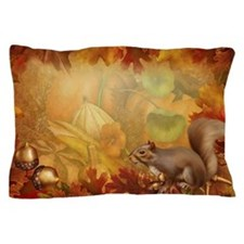 Thanksgiving Squirrel Pillow Case