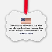 Quote Democracy Ornament