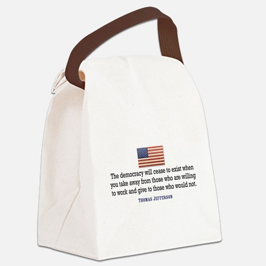 Quote Democracy Canvas Lunch Bag