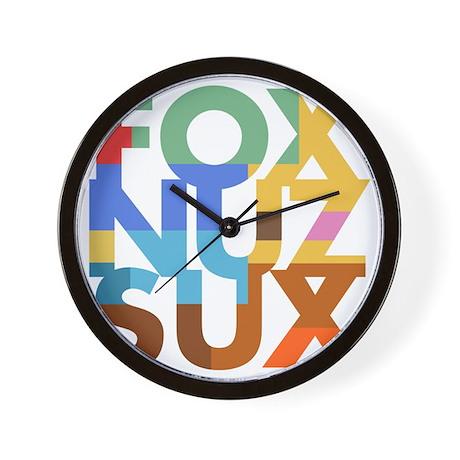 Fox_Nuz_Sux_2 Wall Clock