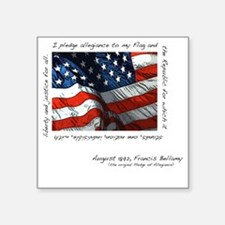 "2-flag Square Sticker 3"" x 3"""