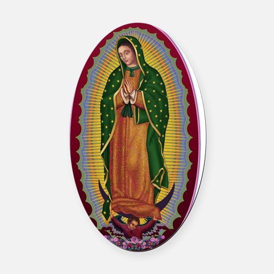 7  Lady of Guadalupe Oval Car Magnet