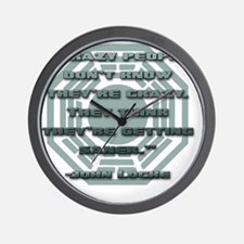 lost_locke_quote_crazy_people Wall Clock