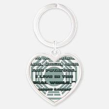 lost_locke_quote_potatoes Heart Keychain